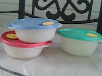 Tupperware Bowls  $20 for all 3