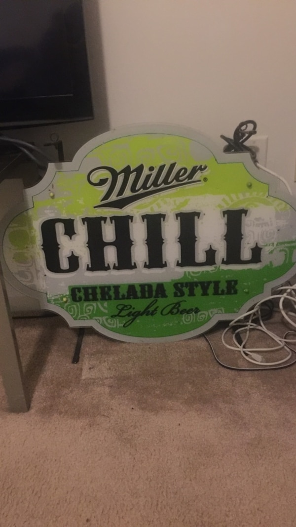 Used Miller Chill Neon Sign For Sale In Concord Letgo