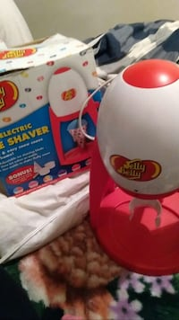 white and red Jelly Belly electric ice shaver with box null, S6V