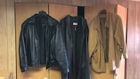 3 leather jackets. $20.00 each all large. 1 mans, 2 ladies Glen Ellyn, 60137