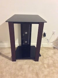 Black wooden single tv stand or side table that has two shelves  Greenbelt, 20770