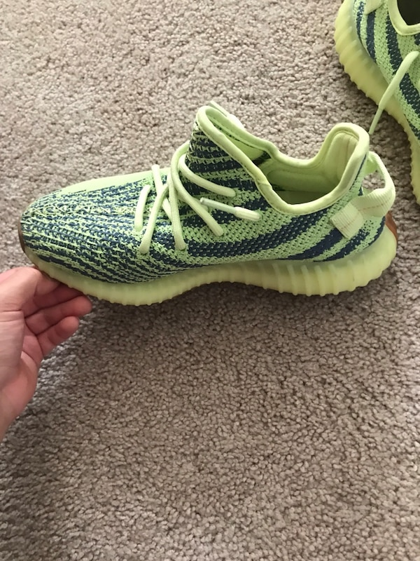 9f69f8053eb01 Used unpaired gray and green Adidas Yeezy Boost 350 for sale in Norwalk -  letgo