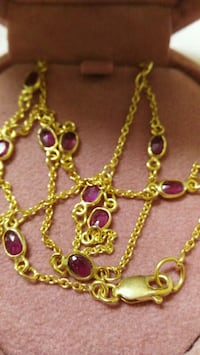 Beautiful Gold Ruby Necklace