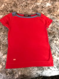Ralph Lauren red T-shirt with blue details small classic