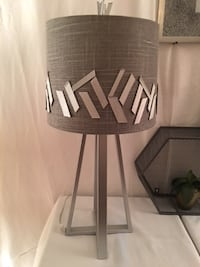 Art Decor Silver color triangular base w/Embellished shade Lansdowne