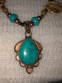 Howlite Turquoise (necklace & earring set)