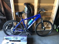 Mountain Bike with helmet and car stand