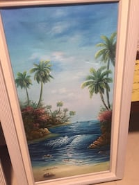 Green and brown palm trees painting North Port, 34287