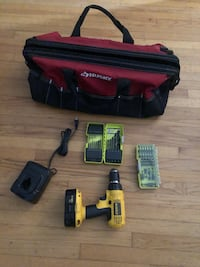 Tool bag and power drill