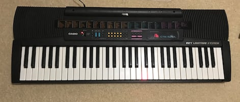 Casio electric piano , amplifier