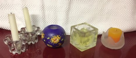 5 Decorative Candles For Sale