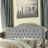 Grey tufted headboard for full bed, 62.5 inches Alexandria