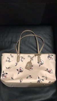 white and brown leather tote bag Parkville, 21234