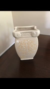 Clay Flower Square Vase/Pot