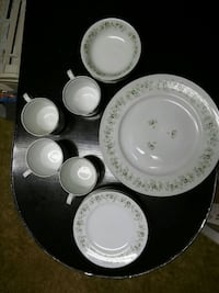 (4) plates, (4) mugs, (4) soup bowls and 8 saucers Zanesville, 43701