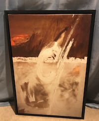 brown wooden framed painting of woman Bolton, L7E 2L5