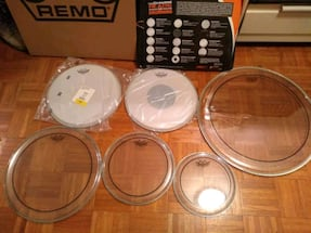 New Remo drumheads
