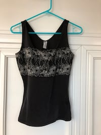 Size Small black camisole with lace  Toronto, M8V
