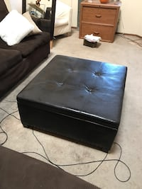 black leather 2-seat sofa 26 mi