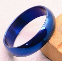Size 10 Blue Stainless Steel Ring