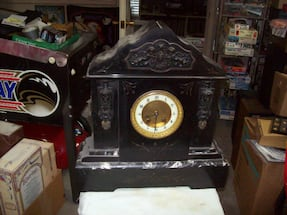 FRENCH MARBLE SLATE CLOCK