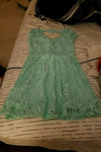 green and white floral sleeveless dress Hagerstown