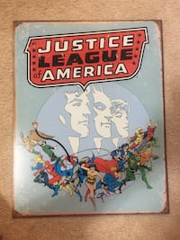 Justice League tin sign Abbotsford, V2S 3N4