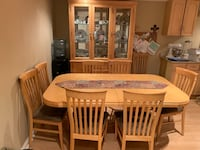 Kitchen / Dining table with buffet hutch