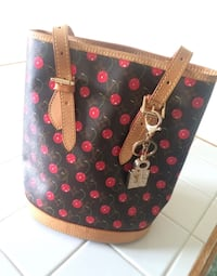 Authentic LV Leather Cherry Bucket Purse    Chesapeake, 23324