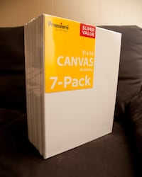 7 UNOPENED 11x14 Canvases in Perfect Condition