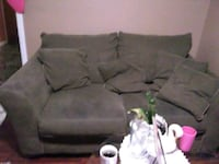 gray fabric 2-seat sofa and couch with it to big Utica, 13501
