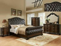 Sheffield Dark Cherry Sleigh Bedroom Set    Houston