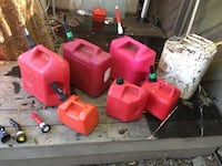Gas cans all shapes and sizes make me an offer for one or a few Napa, 94558