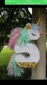 white, green, and pink unicorn pinata screenshot Fontana, 92335