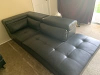 tufted black leather sectional sofa Adelphi, 20783