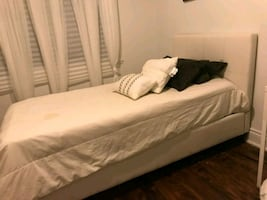 Single mattress with a box spring