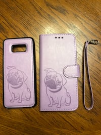 white and pink leather smartphone case Saint Albans, 25177