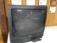 black CRT TV with remote Marshalltown, 50158