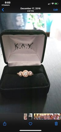 14 karat yellow gold 1/2 karat 3 stone diamond ring Manassas, 20111