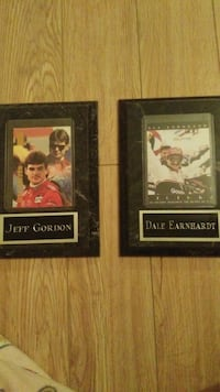 two Jeff Gordon and Dale Earnhardt trading cards