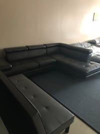 Brand NEW modern leather sectional-$40 down financing available  Troy, 48085