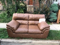 Leather Love Seat!