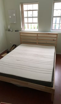 Queen size Ikea bed frame and mattress  Vancouver, V5T