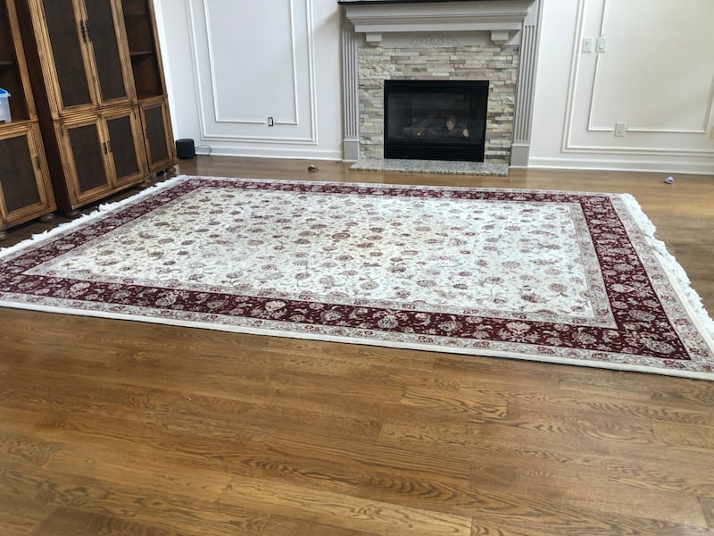 Authentic Silk Persian Rug purchased ABC Carpet in NYC 19a705fa-fbd9-4fd1-8c6d-74600d73504a