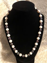 Black and White Freshwater Pearl Necklace