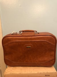 Vintage leather luggage bag Denton, 76201