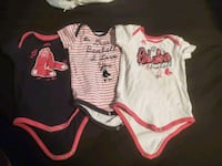 Girls RedSox Onsies size 18 months  Spencer, 01562
