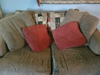 two gray and red throw pillows New Braunfels, 78130