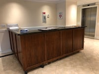 brown wooden sideboard with mirror Boca Raton, 33431