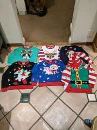 Kids Youths S-M-L-XL ugly Christmas sweater